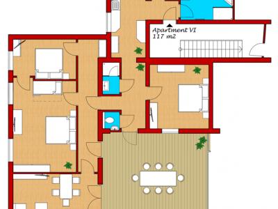 Appartement 6 (6 Personen)